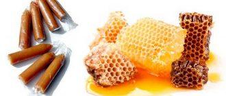 Медовые соты и свечи из прополиса