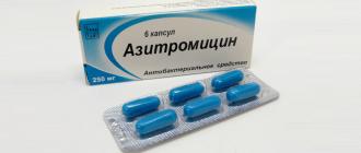 Упаковка капсул Азитромицин